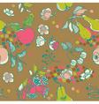 Fruit garden seamless pattern vector