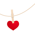 Heart clothespin vector