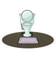 A toilet bowl vector