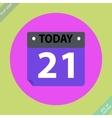 Calendar icon -  flat design vector