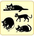 Black cats - set vinyl-ready eps vector