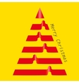 Merry christmas tree glossy ribbons vector