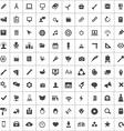 100 art design icons vector