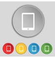 Tablet sign icon smartphone button set colur vector