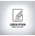 Book and pencil icon vector