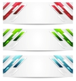 Hi-tech geometric abstract banners vector
