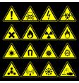Hazard symbols and signs collection vector