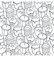 Cupcake patterns vector
