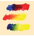 Watercolor hand drawn gradient stripes vector