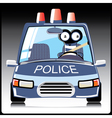 Monster in a police car vector