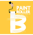 Paint roller alphabet b vector