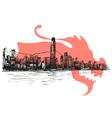 Hong kong drawing vector