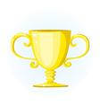 Gold trophy vector