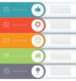 Modern minimal colorful arrow infographics vector