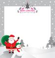 Santa snowman border vector