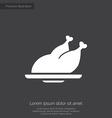 Chicken premium icon vector