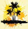 Grunge palm trees background vector