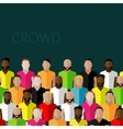 Flat of a large group of men fitness community vector
