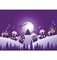 Violet christmas night vector