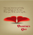 Valentine greeting hearts drawing vector