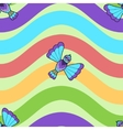Seamless pattern of fantastic bluebird vector