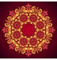 Elegant template vintage flowers lace ornament vector