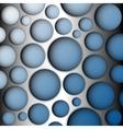 Metal speaker lattice blue background vector