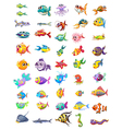 Group of different fishes vector