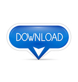 Blue download web button vector