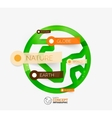 Eco earth globe infographic concept vector