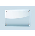 Clear glass sign vector
