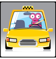 Monster in a taxi vector