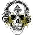 Wicked skull illustration vector