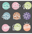 Colored weather icons vector