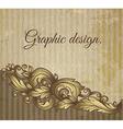 Vintage scroll pattern at grunge background vector