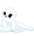 Cartoon baby seal vector