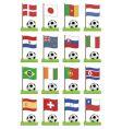 Football flags vector