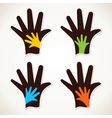 Hand with child hand stock vector
