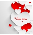 I love you abstract holiday background with paper vector