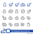 Shopping outline series vector