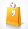 Shopping yellow bag vector