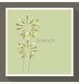 Poster with abstract pastel-colored green flower vector