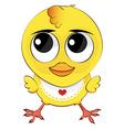 Funny cartoon chicken vector