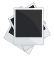 Empty photo frames on white background vector