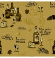 Wine still life monochrome vector