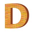 Brick letter d vector