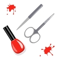Manicure set and nail polish vector