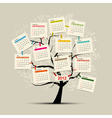 Calendar tree 2012 for your design vector