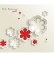Seamless pattern of flower stickers background vector