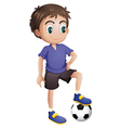 A young soccer player vector